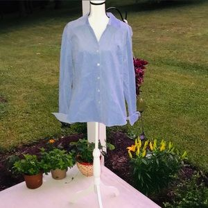 XL Susan Graver Style Periwinkle Shimmer Blouse